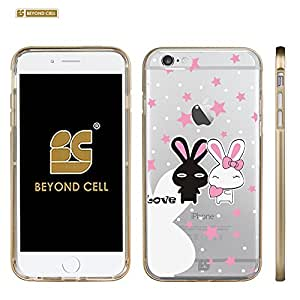 Beyond Cell ?InFlex? V3.0 For Iphone 6 Plus (5.5)/ Iphone 6+ (T-mobile,AT&T,Verizon,Sprint,International) Premium Protection Hybrid Ultra Slim Clear Flexible Soft TPU With Plastic Gold Bumper Around Protective Phone Case With Design - Pure Love Design - Retail Packaging