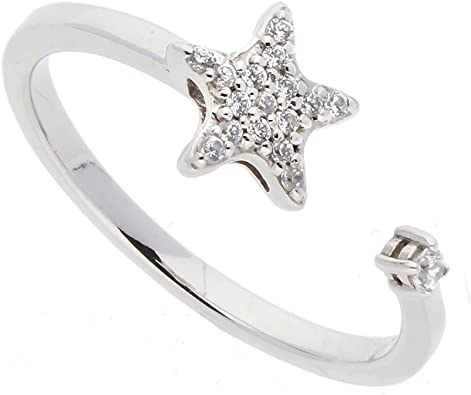 Diamond Star Ring in 14K Yellow Gold