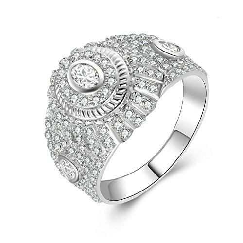 Gnzoe Jewelry, Men Wedding Ring Wide Dome Ring Cubic Zirconia, Customized Ring