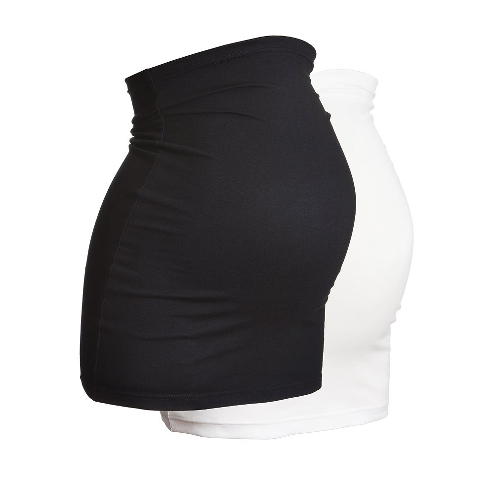 Sizes 6 to 26 2PK Black /& White Maternity Belly Band by Harry Duley Extra Long