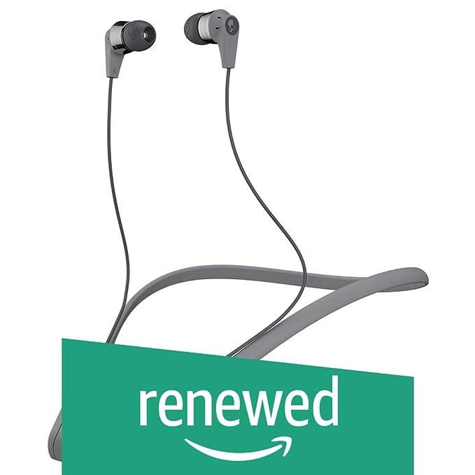 Renewed  Skullcandy Ink?d S2IKW J509 Bluetooth Wireless in Ear Earbuds with Mic  Gray/Black