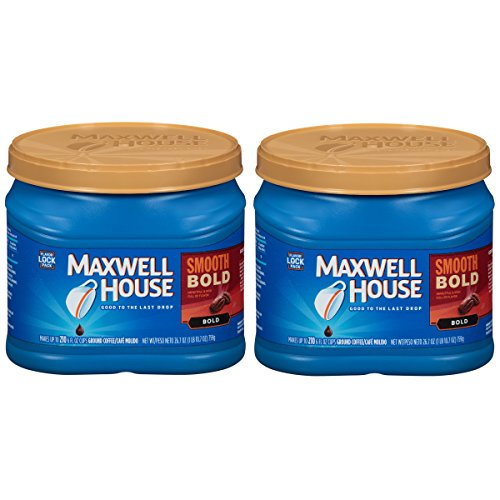 Maxwell House Smooth Bold Ground Coffee, 26.7 oz Can (Pack of 2)