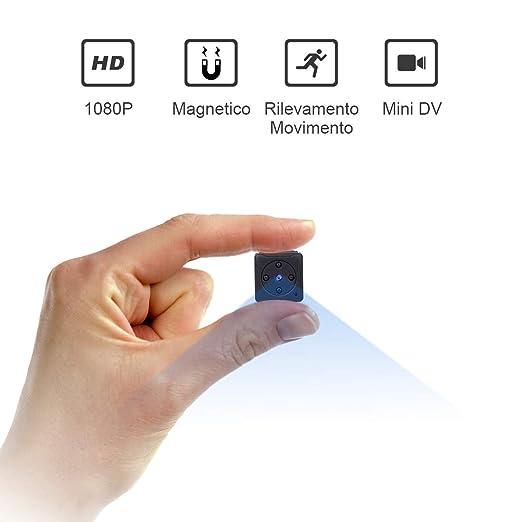 Mini C/ámaras Esp/ía 1080P Port/átil C/ámara Vigilancia C/ámara Detector de Movimiento No Incluidas Tarjeta SD