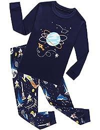 Little Boys Pajamas Sets 100% Cotton Pjs Toddler Kids Pj