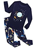 Family Feeling Space Little Boys Long Sleeve Pajamas Sets 100% Cotton Clothes Kids Pjs Size 6 Blue