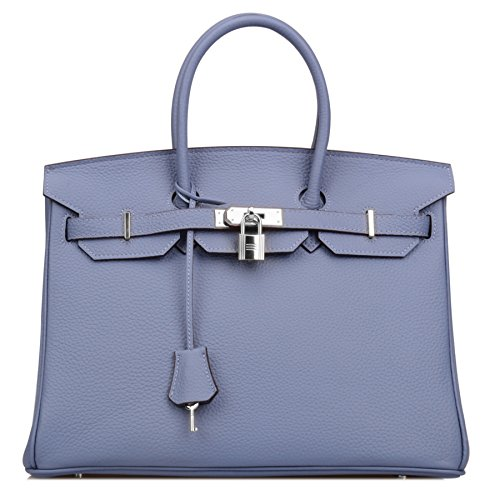 ce1c3213d3 Ainifeel Women s Padlock Handbags Purses with Silver Hardware