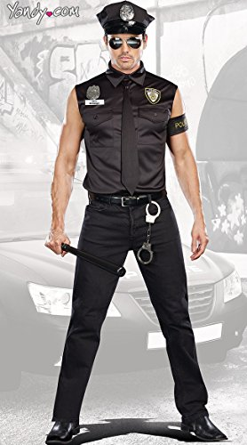 Dreamgirl Men's Dirt Cop Officer Ed Banger Costume,