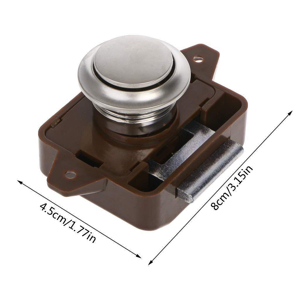 HavanaYZ moteur serrure /à bouton pour mat/ériel de meubles caravane tiroir de placard bateau Verrou poussoir pour camping-car maison
