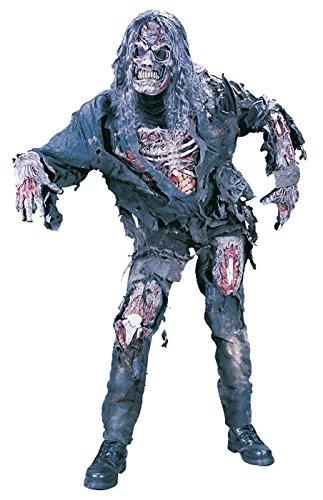 FunWorld Men's Complete 3D Zombie Costume, Grey, One (Costume D'halloween Zombie)