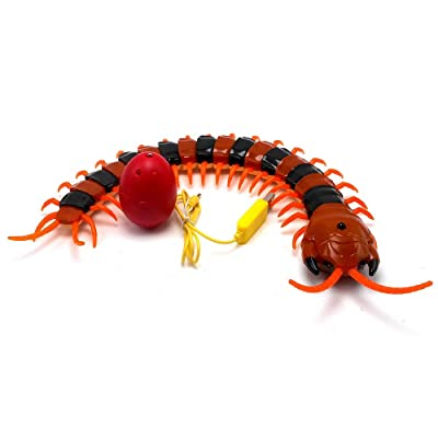 Unionup Cute RC Centipede Creepy-Crawly Scolopendra Infrared Remote Control Vehicle Car Electric Toy Boys Gifts: Toys & Games [5Bkhe1803847]