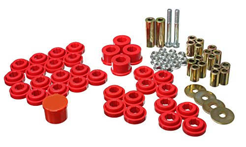 Energy Suspension Bushings Rear Dodge (Energy Suspension 5.3141R Control Arm Bushing Set Red Rear Must Reuse Existing Outer Metal Shells Performance Polyurethane Control Arm Bushing Set)