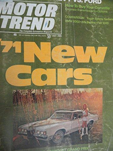 1970 Fiat 124 / BMW 2002 / Alfa Romeo Berlina / Cadillac Eldorado / Lincoln Continental Mark III Road Test