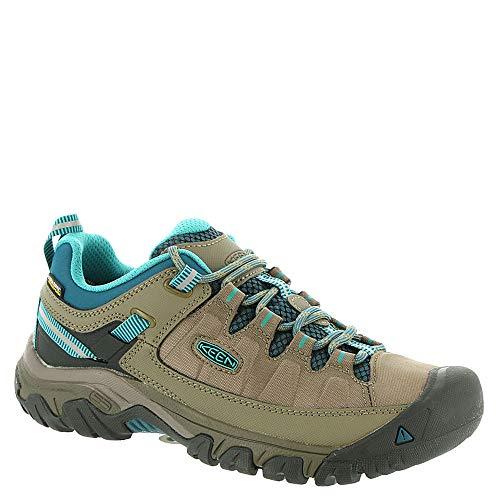 Keen Targhee Exp Wp W Brindle/Blue Coral Womens Hiking Shoe Size ()