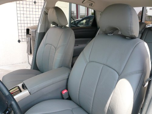 Clazzio 241143Lgy Light Grey Leather Front  Rear And Third Row Seat Cover For Toyota Sienna Le Se