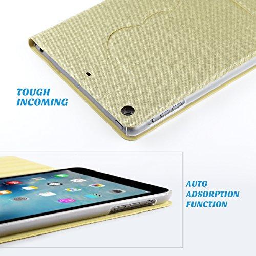 iPad Mini 3 Case,iPad Mini Case,ULAK Ultra Slim 360 Rotating Smart Stand Case Cover for Apple iPad Mini 1/ iPad Mini 2/ iPad Mini 3 with Sleep/Wake Feature (Champagne Gold) Photo #9