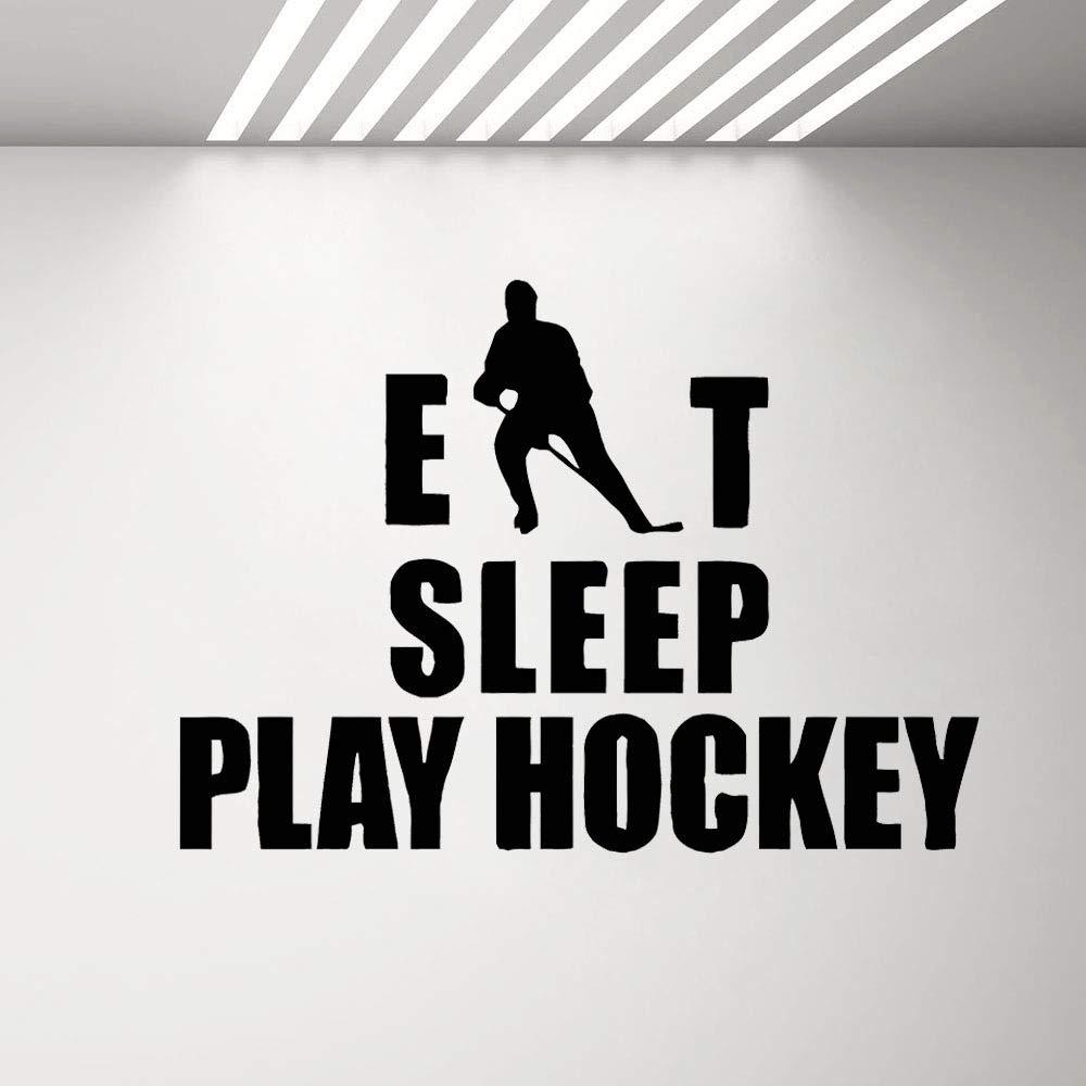 Hockey Eat Sleep Tatuajes de pared Pegatinas Citas Dormitorio ...