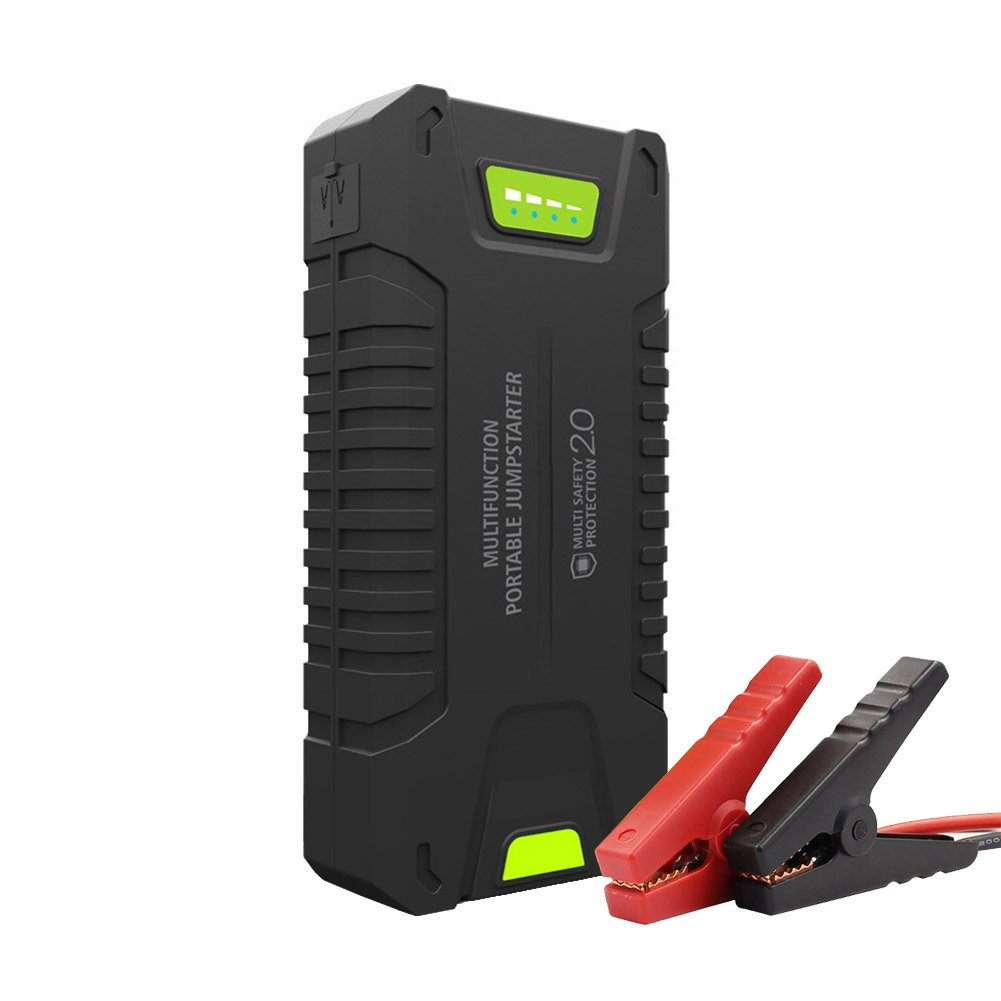 Tipsun 20000mAh 1000A Peak Car Jump Starter (Up to 8.0 L Diesel or Fully Support Gas), Portable Phone Charger Power Pack with LED Light, Battery Booster with Jumper Clamps Cable for Cars Motorbike.