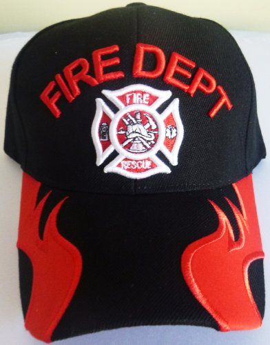 Fire Department, Fire Fighter, Fire and Rescue Baseball C...