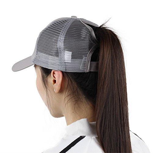 Sven Home Ponytail Baseball Hat Trendy Messy Buns Trucker Visor Cap Dad Hat Mother Gift Ponytail (Grey)