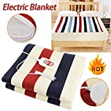 Heated Electric Blanket,Intelligent Constant Temperature Remote Control Rapid Heating Pad for Family Students