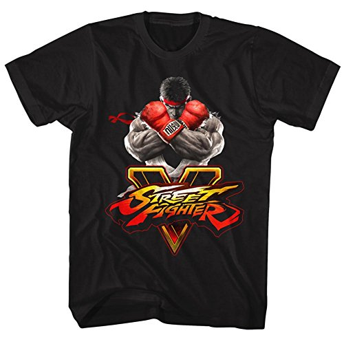 American Classics Men's Street Fighter 5 with Graphic Adult Tee, Black, Medium