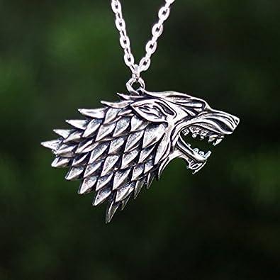 Game Of Thrones House STARK Necklace, Arya, Jonh Snow, Pendant, Jewlery,
