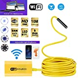 Aneil 32.8FT Wireless Wifi Iphone & Android Endoscope Inspection Camera 1200P Ultra HD 8 LED