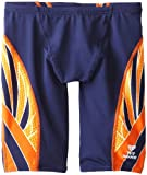TYR Men's Phoenix Splice Jammer Swimsuit (Navy/Orange, 26)