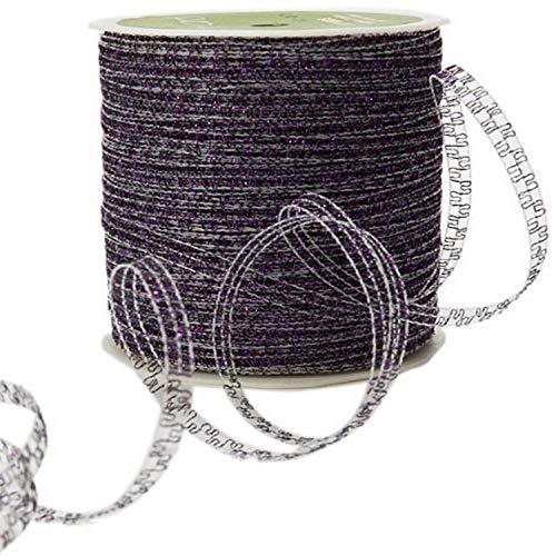 Morex Ribbon Pearl Raffia Fabric Ribbon Spool 55-Yard Burgundy