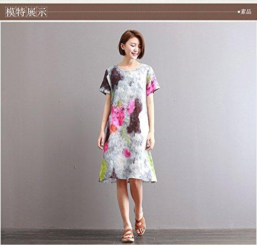 - XiaoGao Une Robe Longue imprimé