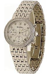 Bulova Diamond Chronograph Stainless Steel Women's watch #96R204