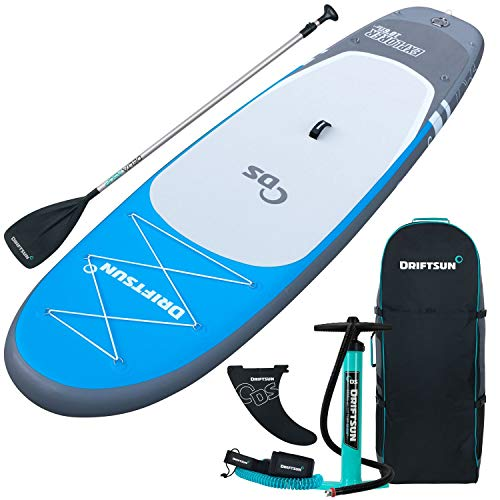 Driftsun Explorer Inflatable Paddleboard Package, 10-Feet Long 6-Inches Wide, Blue