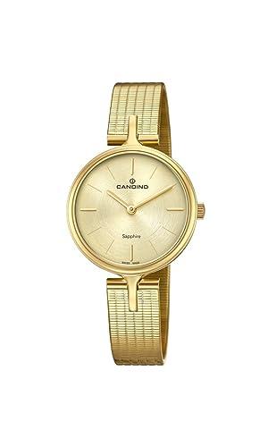 Candino Reloj Análogo clásico para Mujer de Cuarzo con Correa en Acero Inoxidable C4644/1: Amazon.es: Relojes