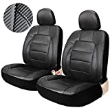 Leader Accessories Auto Leatherette Front Seat Covers Black Set of 2 Low Back Universal for Truck Car SUV