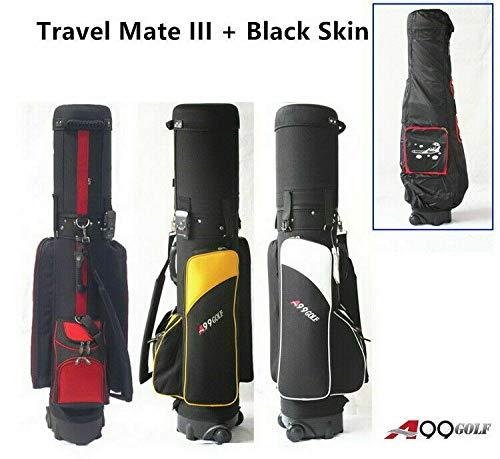 Deluxe Golf Travel Mate CarryOn Rolling Wheel Carrito de golf Estuche para bolsa con cerradura TSA y cubierta de protección