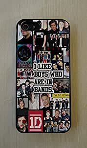 5 SOS & 1D 5 Seconds of Summer & One Direction Fitted Rubber Cell Phone Case for iPhone 6 plus 5.5''