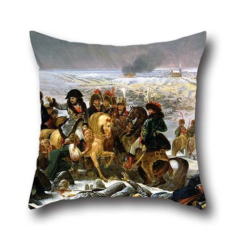 Cushion Cases Of Oil Painting Antoine-Jean Gros - Napoleon On The Battlefield Of Eylau 20 X 20 Inches / 50 By 50 Cm,best Fit For Office,relatives,festival,husband,kids,indoor Twin Sides (Twin Fit Dress Form compare prices)