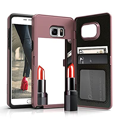 Samsung Galaxy S7 Edge Case, [Vettore by Zizo] All-in-One Wallet Case with [Galaxy S7 Edge Screen Protector] Built-In Mirror and [Kickstand] - S7 Edge