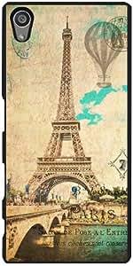 Funda para Sony Xperia Z5 - Eiffel Torre Vendimia París by J McCool