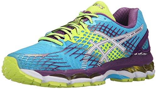 ASICS Women's Gel-Nimbus 17 Running Shoe, Blue Atol/White/Purple, 9 M US
