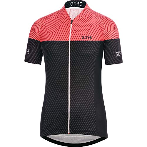GORE Wear C3 Ladies Short Sleeve Cycling Jersey, Size: L, Colour: Black/Coral