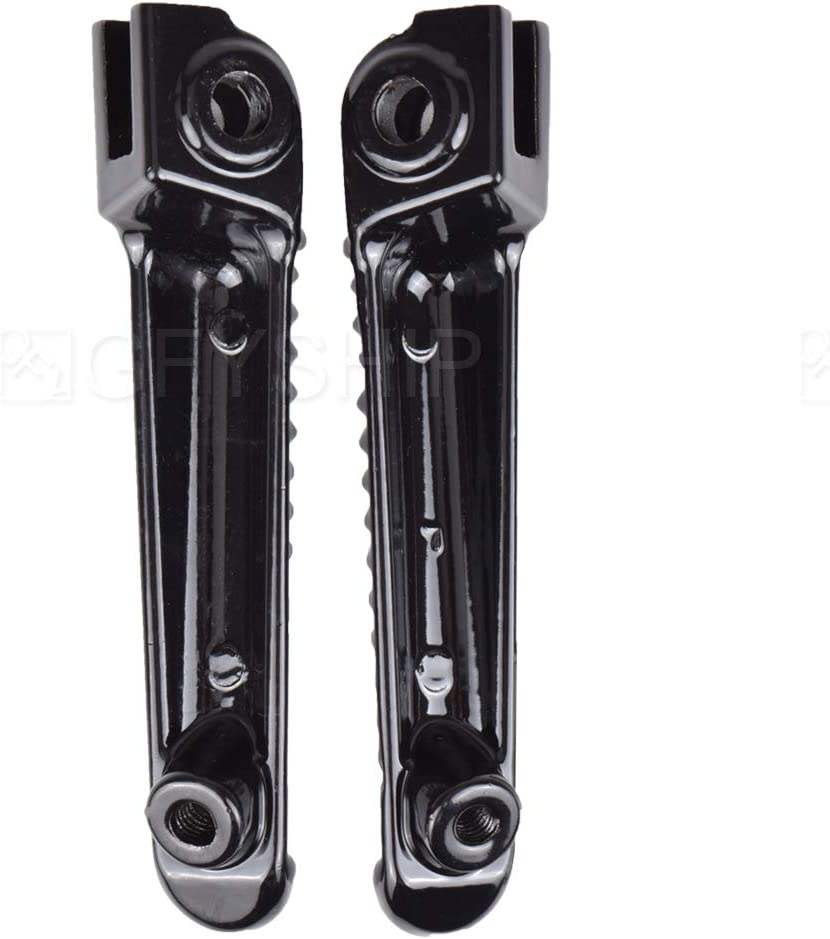 For Yamaha YZF R6 1999-2017 R6S 2003-2008 YZF R1 1998-2014 R1 R6 R6S YZFR1 YZFR6 YZFR6S Motorcycle Front Foot Pegs Footrests Pedal Black