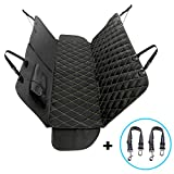 AXELL Dog Car Seat Cover and Pet Car Safety Seat Belt, Durable Ripstop, Reinforced Stitching, Waterproof, Scratch Proof, Non-Slip, Hammock Convertible Pet Seat Cover for Cars, SUV and Trucks.