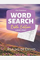 "Word Search: Bible Edition Psalms of David: 8.5"" x 11"" Large Print (Fun Puzzlers Large Print Word Search Books) Paperback"