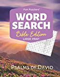 """Word Search: Bible Edition Psalms of David: 8.5"""" x 11"""" Large Print (Fun Puzzlers Large Print Word Search Books)"""