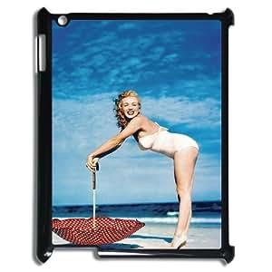 E-Isam Fashionable IPad 2,3,4 Cover Custom Case Marilyn Monroe,customized Hard Plastic case