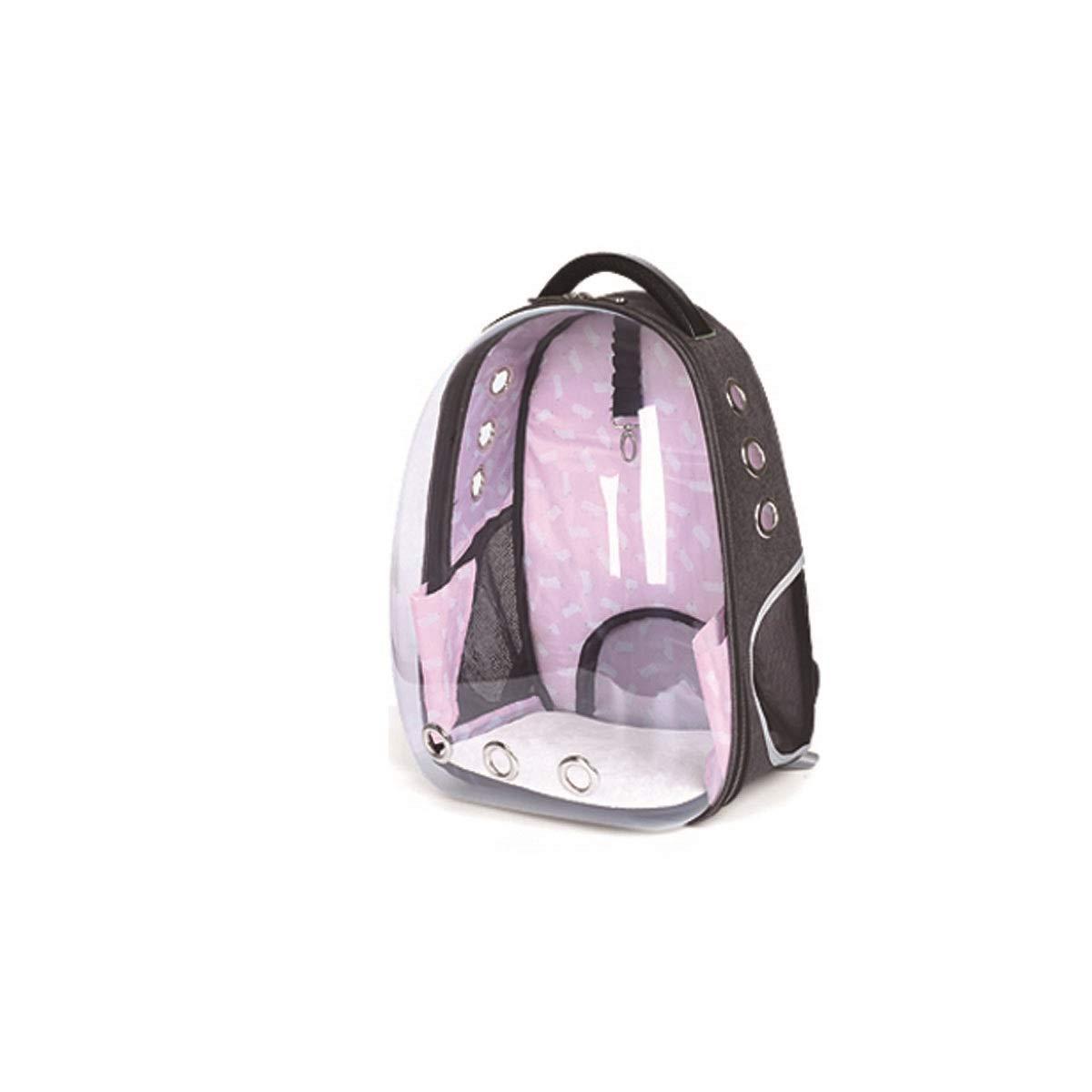 HENGTONGTONGXUN Portable Breathable Pet Carrier, Backpack Outing Cat Carrier, Pet Backpack Carrier, bluee, Green, Black, Purple, Pink Bite resistant, wear resistant, washable (color   Pink)