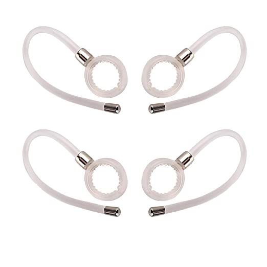 3pcs New Earhooks for Motorola HX550 H17 H17txt H525 Wireless Bluetooth Headset HX-550 H-17 H17-txt H525 Headsets Ear Hooks Loops Clips Stabilizers Earloops Earclips Replacement Parts