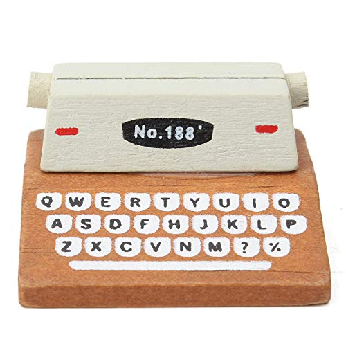 1Pcs Mini Retro Typewriter Desktop Figurines Wooden, used for sale  Delivered anywhere in Canada