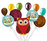 11pc Woodland Owl It's a Baby Boy Animals Balloon Bouquet Party Decoration Woods